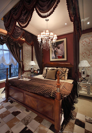 古典美式风格主卧卫生间设计装修效果图实例