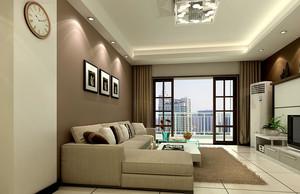 小户型现代简约风格客厅阳台装修效果图鉴赏
