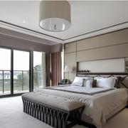 16平米简欧风格卧室移动门装修效果图赏析