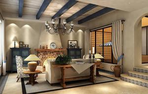91平米地中海风格精致两室两厅装修效果图鉴赏