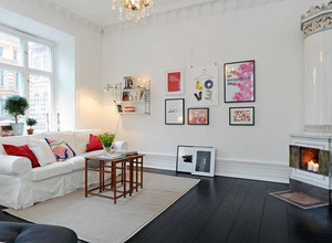 北欧风格白色主题客厅装修效果图大全