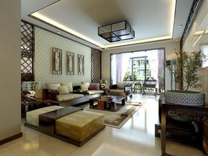 15平米中式风格客厅装修效果图赏析