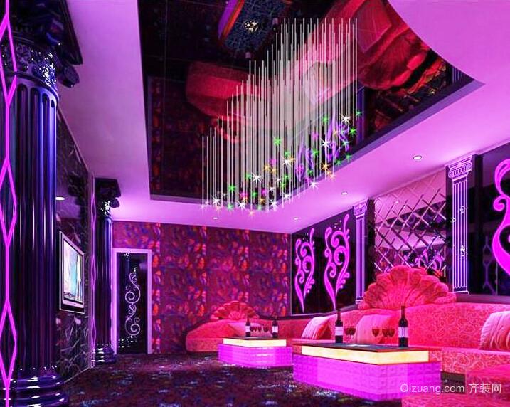 30平米现代风格KTV室内装修效果图
