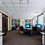 125平米现代风格办公室装修效果图赏析
