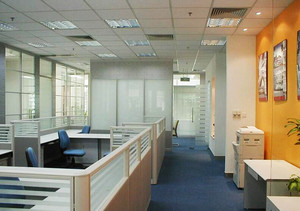 155平米现代风格办公室装修效果图鉴赏