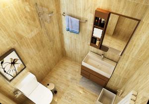 日式风格单身公寓卫生间装修效果图鉴赏