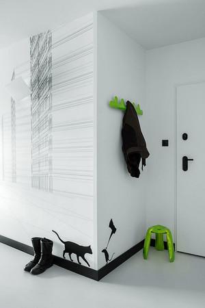 北欧风格小户型客厅手绘墙效果图鉴赏