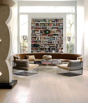 北欧风格小户型圆形客厅书房效果图鉴赏