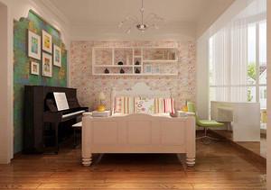 欧式风格三居室带阳台儿童房装修效果图赏析