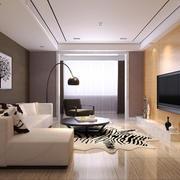 120平米后现代风格客厅电视背景墙效果图赏析