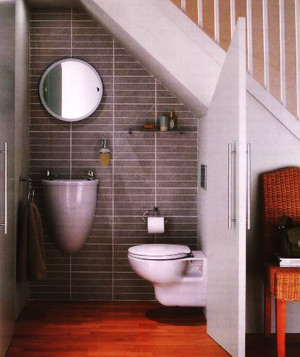 北欧风格复式楼楼梯卫生间设计装修效果图