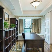 90平米美式风格书房装修效果图赏析