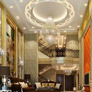 欧式风格别墅客厅吊灯效果图赏析