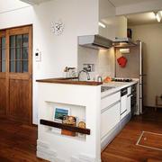 日式简约风格一居室厨房装修效果图赏析