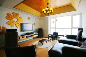 现代简约中式风格两居室室内装修效果图