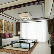 现代中式风格大户型客厅装修效果图赏析