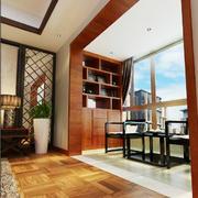 155平米现代中式客厅阳台设计效果图赏析