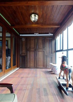 中式风格别墅阳台装修效果图赏析