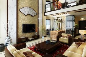 中式风格复式楼客厅装修效果图赏析