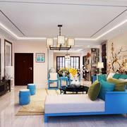 中式风格小户型客厅墙纸效果图赏析