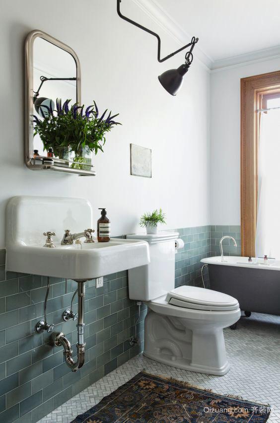 北欧风格一居室白色卫生间装修效果图赏析