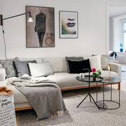 6平米北欧风格客厅装修效果图赏析