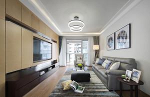 大户型现代中式风格客厅家具摆放效果图赏析