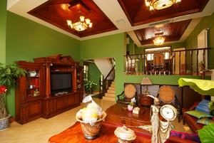 560平米东南亚泰式风格别墅室内装修效果图赏析