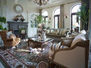 复古美式田园风格精致别墅室内装修效果图鉴赏