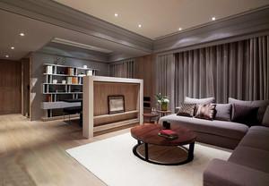 120平米后现代风格客厅书房隔断设计效果图赏析