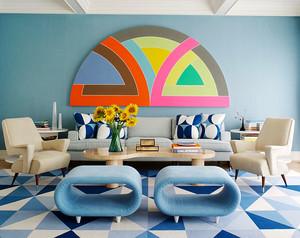 后现代风格女生公寓客厅装修效果图赏析