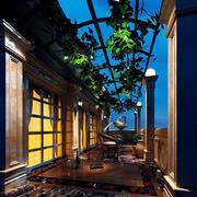 欧式风格别墅露天阳台设计效果图赏析