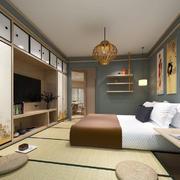 日式风格大户型榻榻米卧室装修效果图赏析