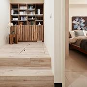 日式风格三居室卧室书房隔断设计效果图鉴赏