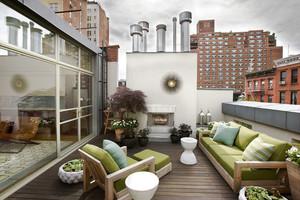 现代风格大户型室外阳台装修效果图赏析
