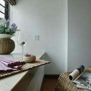 110平米现代简约风格客厅飘窗设计效果图