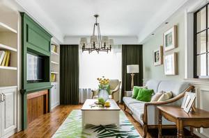 现代美式风格两居室室内装修效果图赏析