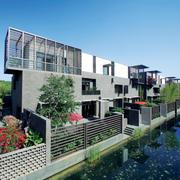 现代中式风格联排别墅装修效果图赏析