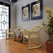 115平米中式风格客厅挂画效果图赏析