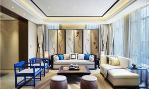 中式风格两居室客厅家具摆放效果图鉴赏