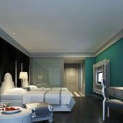 32平米现代风格酒店客房装修效果图赏析