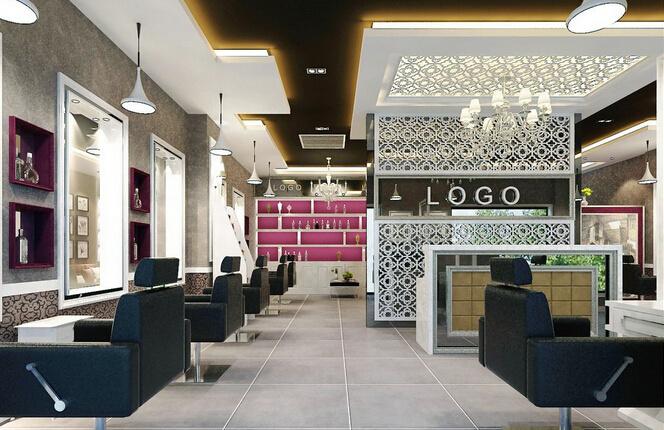 80平米现代风格美发店装修效果图鉴赏图片