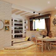 美式风格两居室餐厅改书房设计装修效果图鉴赏