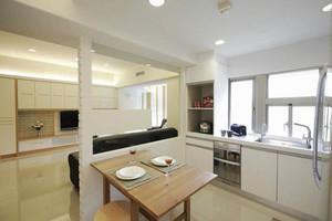 都市简约风格小户型客厅厨房隔断设计效果图