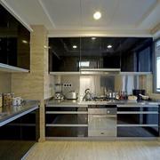 现代风格三居室黑色橱柜设计效果图赏析