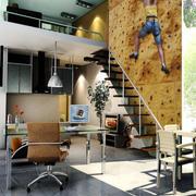 现代loft风格单身公寓书房装修效果图赏析