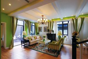 美式田园风格复式楼室内装修效果图鉴赏
