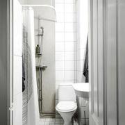 欧式风格男生公寓纯白卫生间卫浴效果图