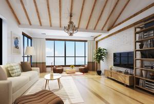日式风格大户型客厅天花设计效果图鉴赏