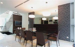 现代简约风格复式楼餐厅装修效果图鉴赏